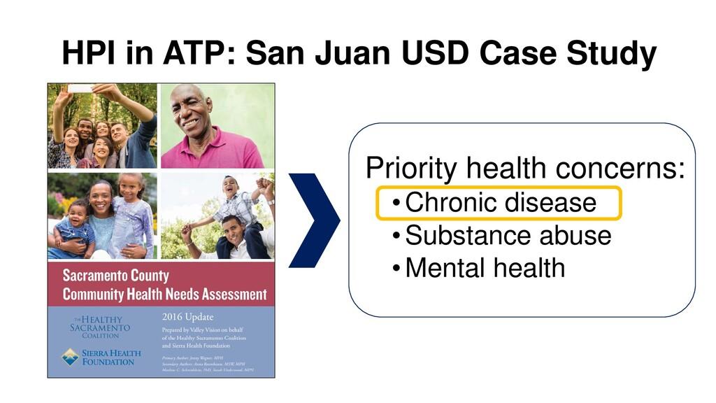 HPI in ATP: San Juan USD Case Study Priority he...