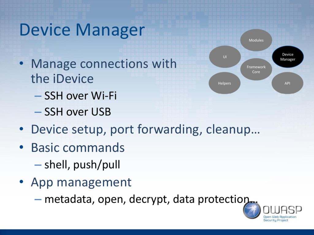 Device Manager • Manage connections with the iD...
