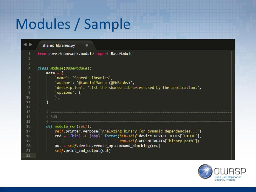 Modules / Sample