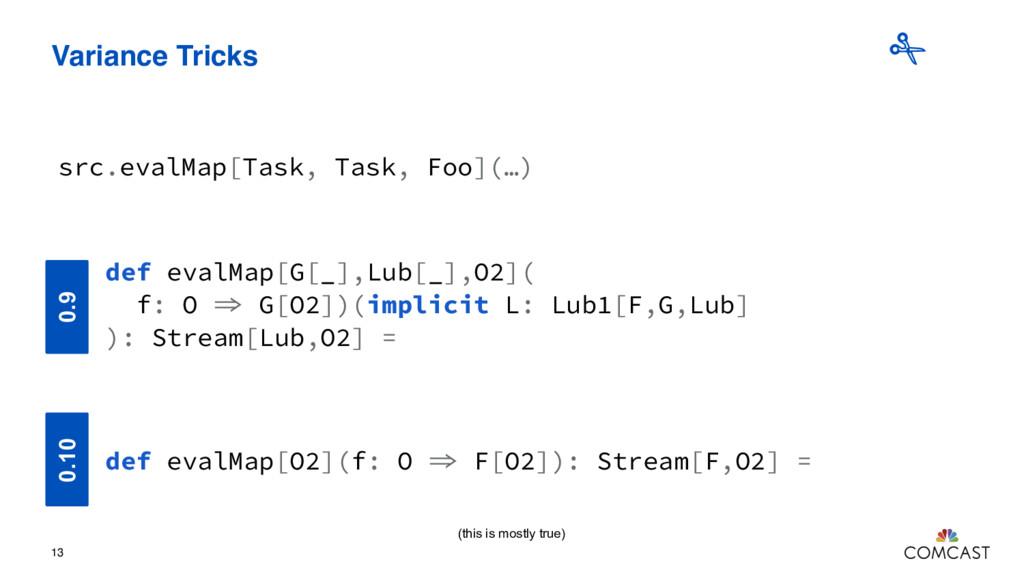 Variance Tricks 13 src.evalMap[Task, Task, Foo]...