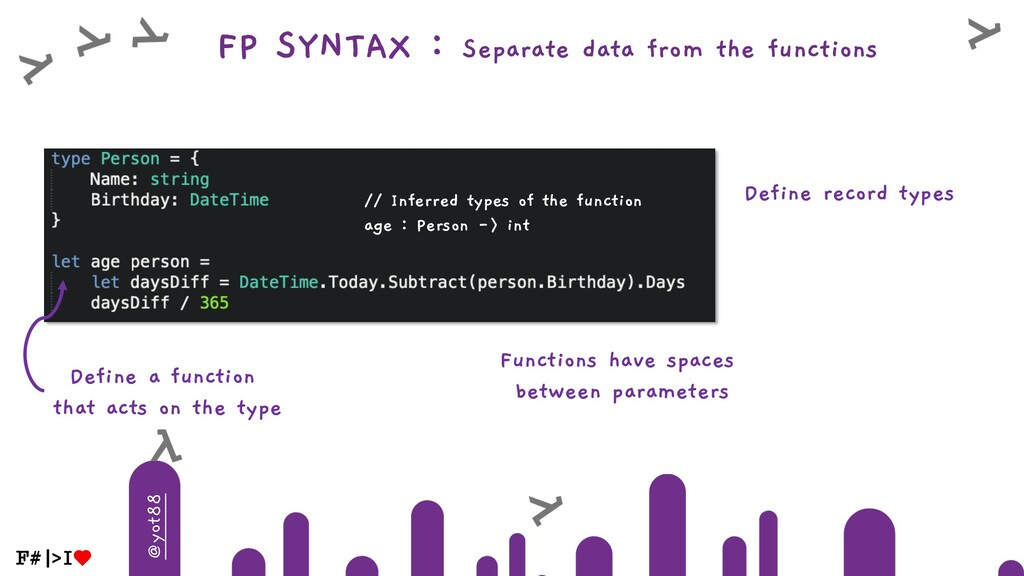 @yot88 FP SYNTAX : Separate data from the funct...