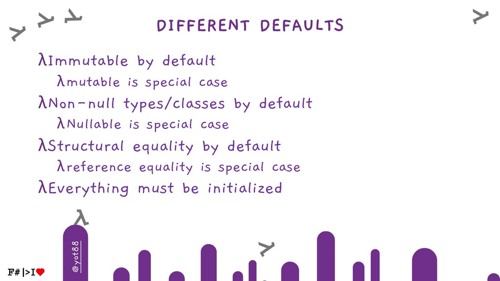 @yot88 DIFFERENT DEFAULTS λImmutable by default...