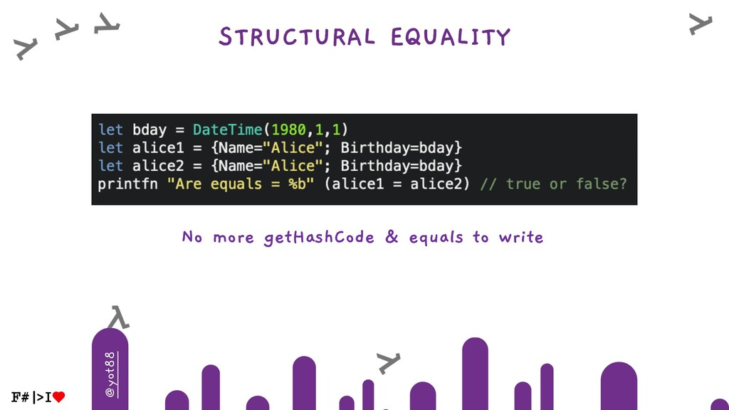 @yot88 STRUCTURAL EQUALITY No more getHashCode ...
