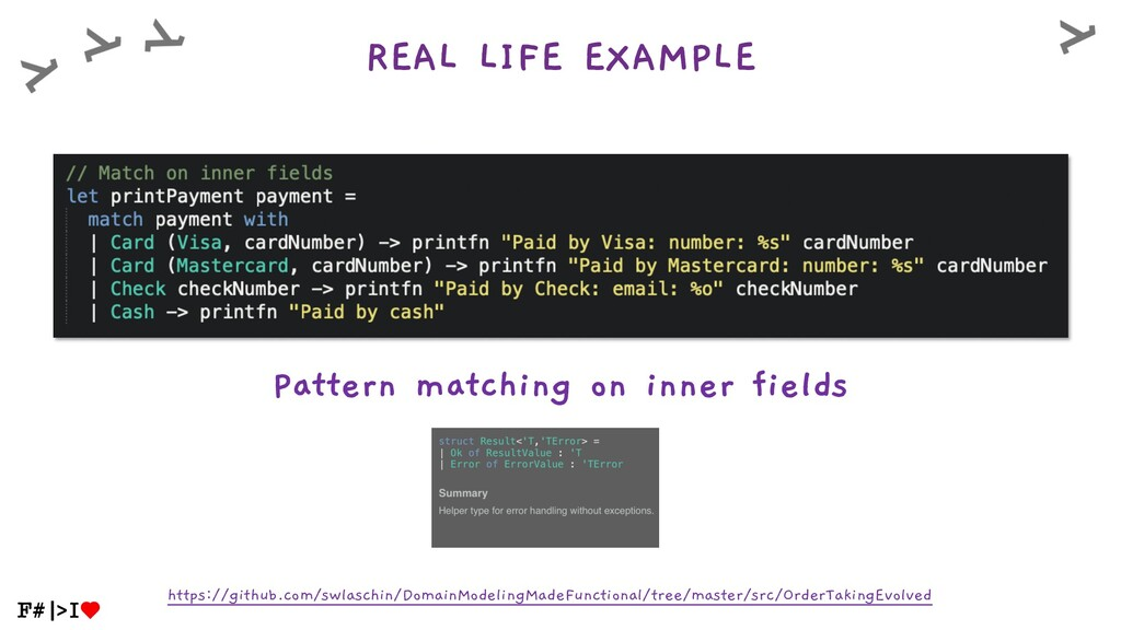 REAL LIFE EXAMPLE Pattern matching on inner fie...