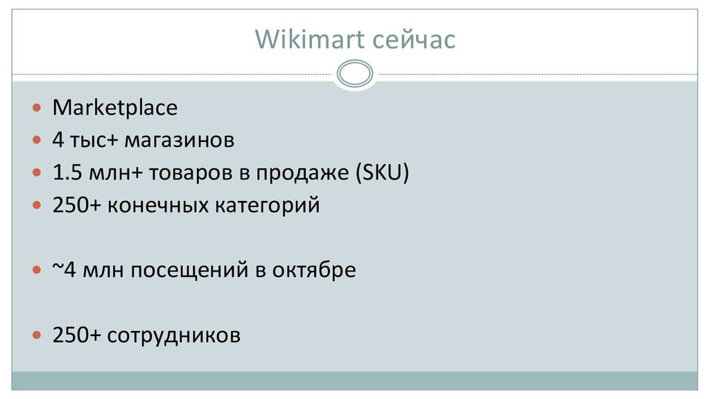 Wikimart сейчас  — Marketplace  — ...