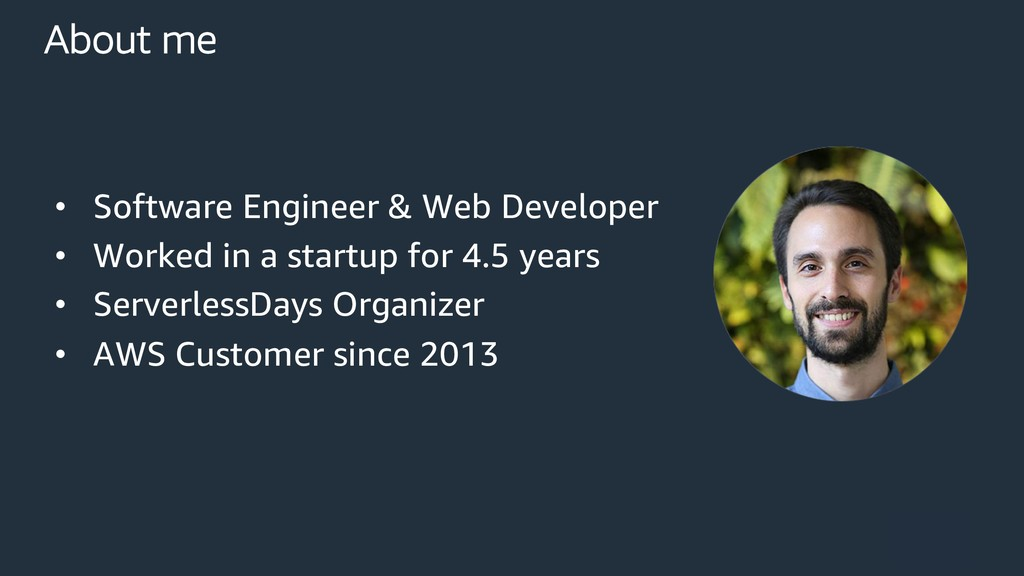 About me • Software Engineer & Web Developer • ...