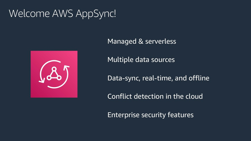 Welcome AWS AppSync! Managed & serverless Multi...