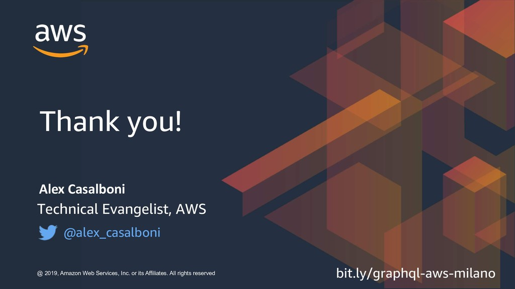 Alex Casalboni Technical Evangelist, AWS @alex_...
