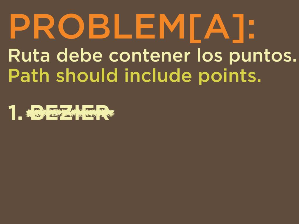 PROBLEM[A]: Ruta debe contener los puntos. Path...