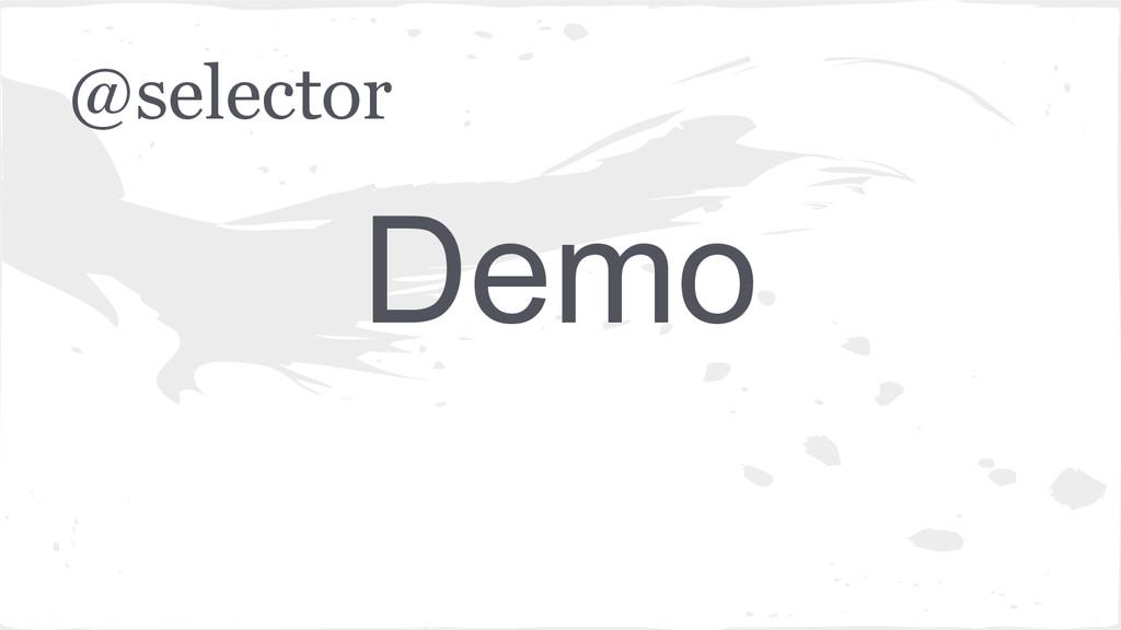 @selector Demo
