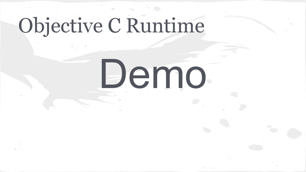 Objective C Runtime Demo