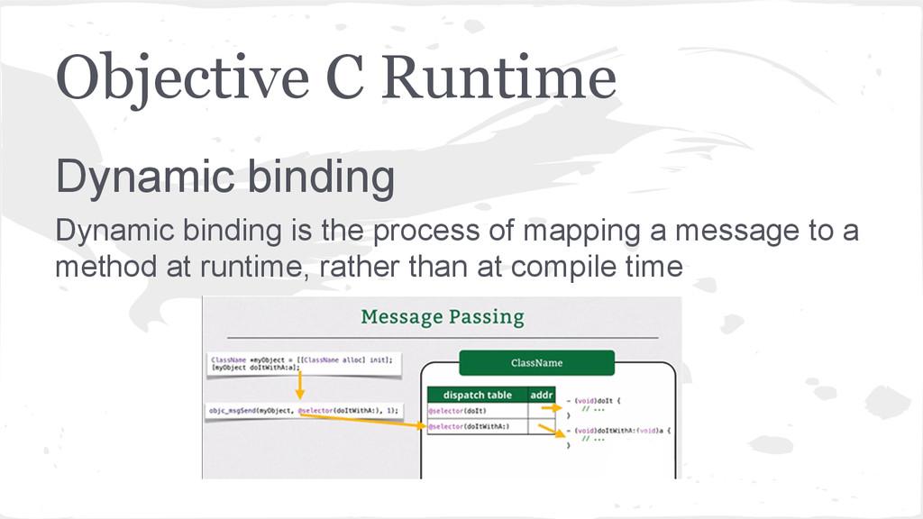 Objective C Runtime Dynamic binding Dynamic bin...