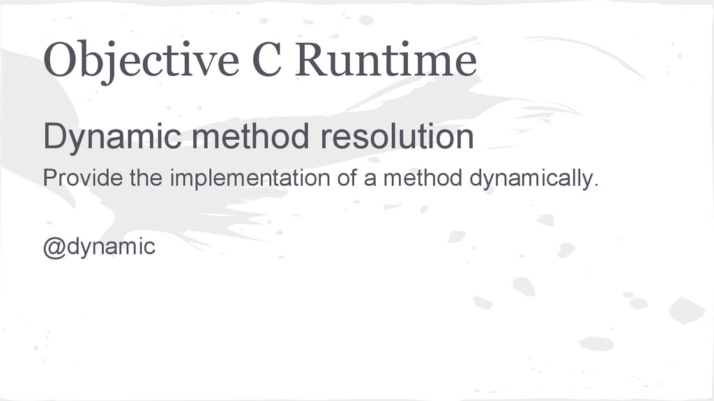 Objective C Runtime Dynamic method resolution P...