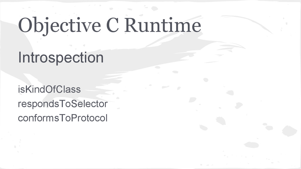 Objective C Runtime Introspection isKindOfClass...