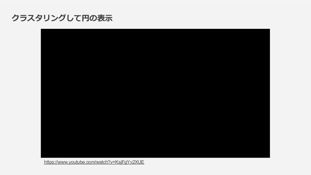 クラスタリングして円の表⽰ https://www.youtube.com/watch?v=K...