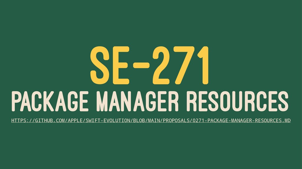 SE-271 PACKAGE MANAGER RESOURCES HTTPS://GITHUB...