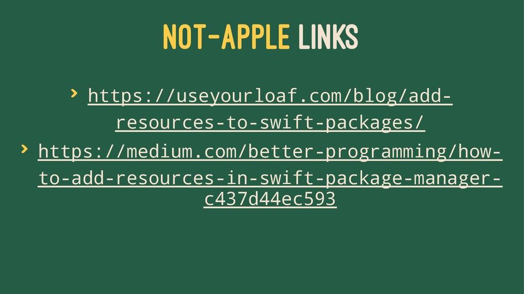 NOT-APPLE LINKS > https://useyourloaf.com/blog/...