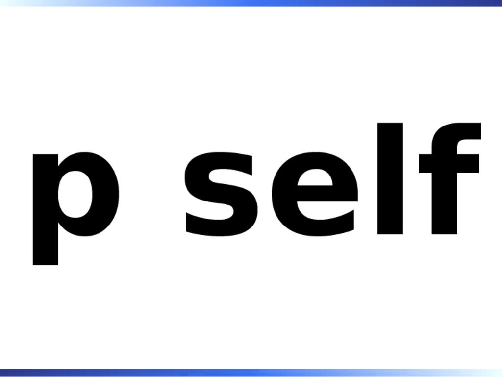 p self