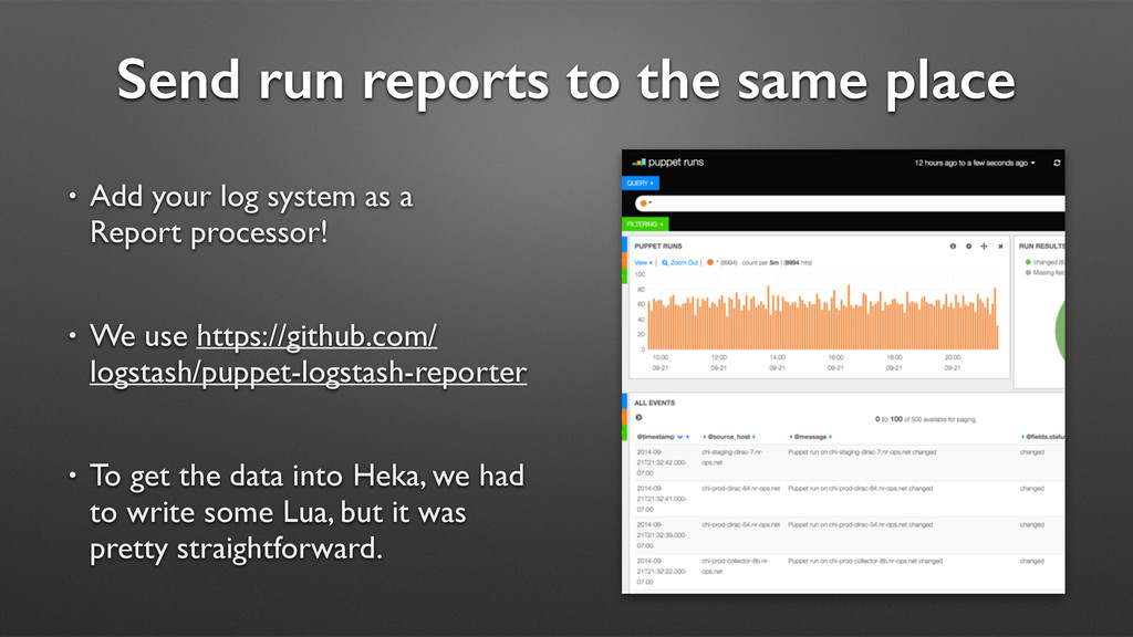 Send run reports to the same place • Add your l...