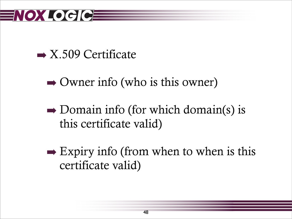 48 ➡ X.509 Certificate ➡ Owner info (who is thi...