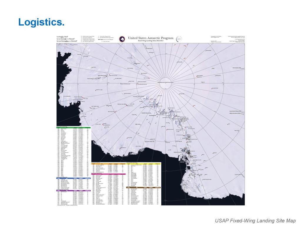 Logistics. USAP Fixed-Wing Landing Site Map