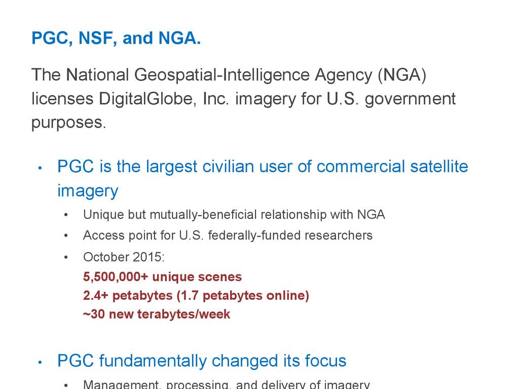 PGC, NSF, and NGA. The National Geospatial-Inte...