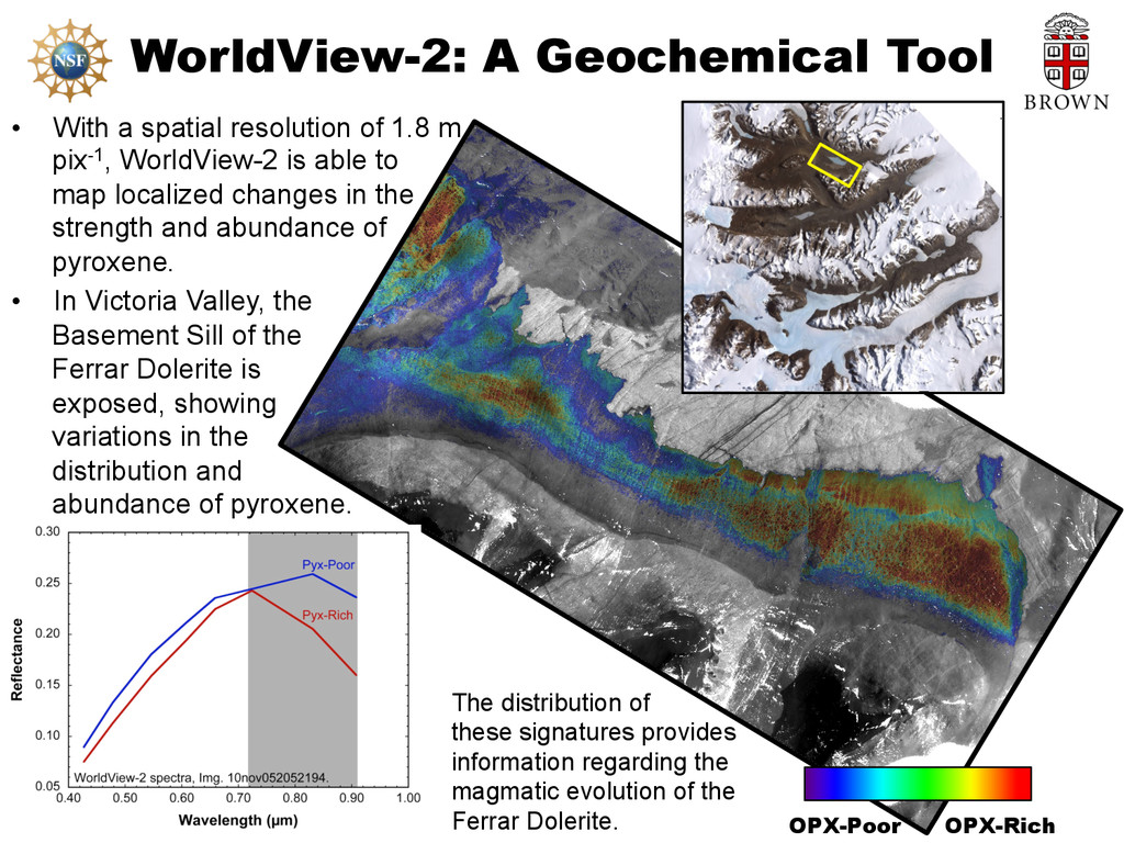 WorldView-2: A Geochemical Tool • With a spati...