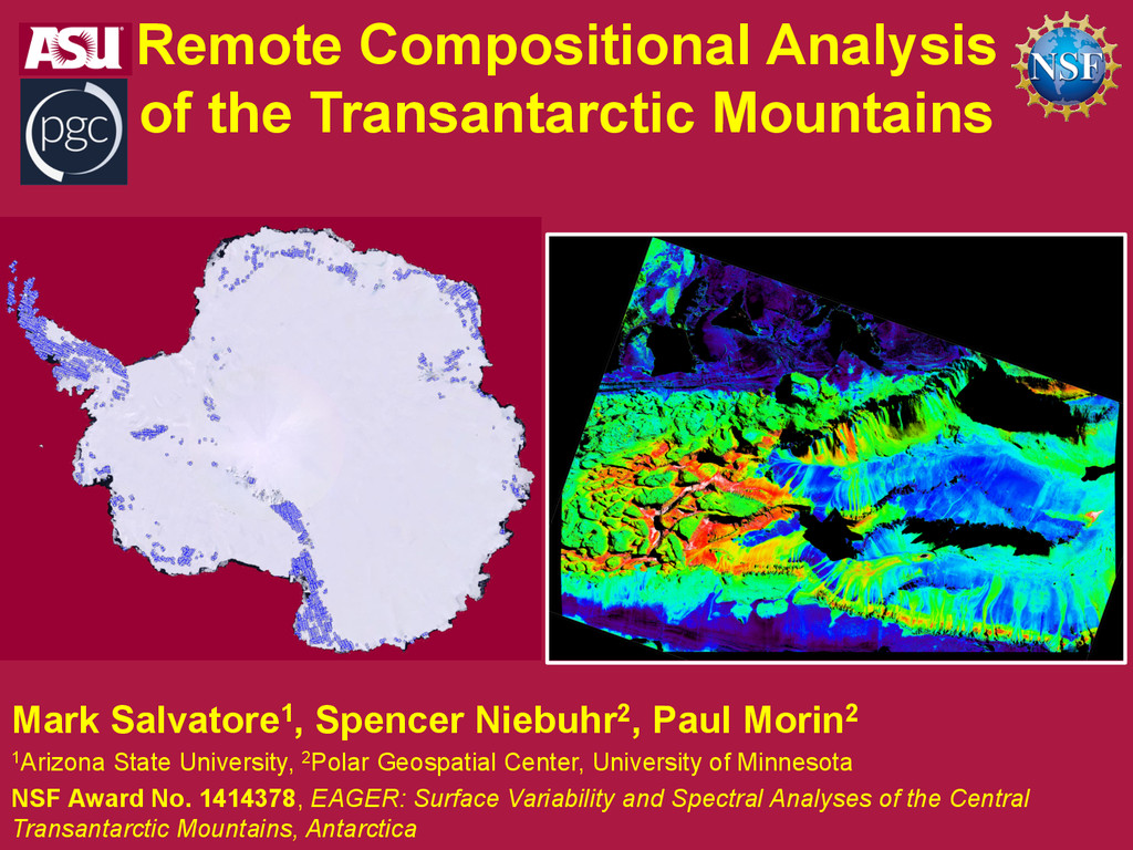 Remote Compositional Analysis of the Transantar...