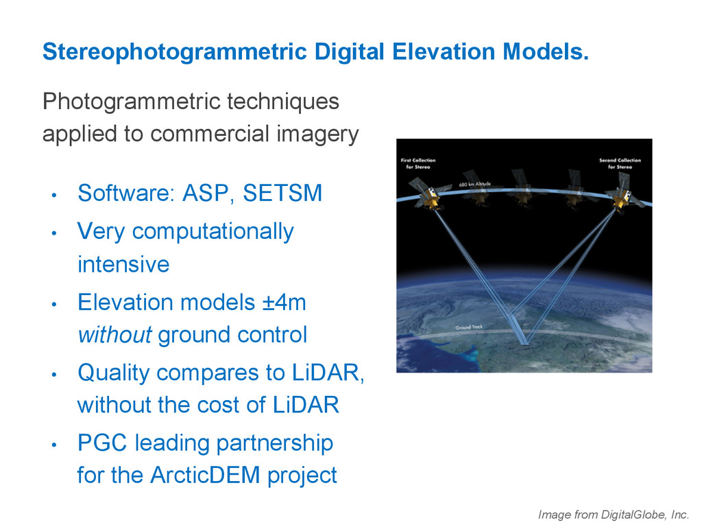 Stereophotogrammetric Digital Elevation Models....