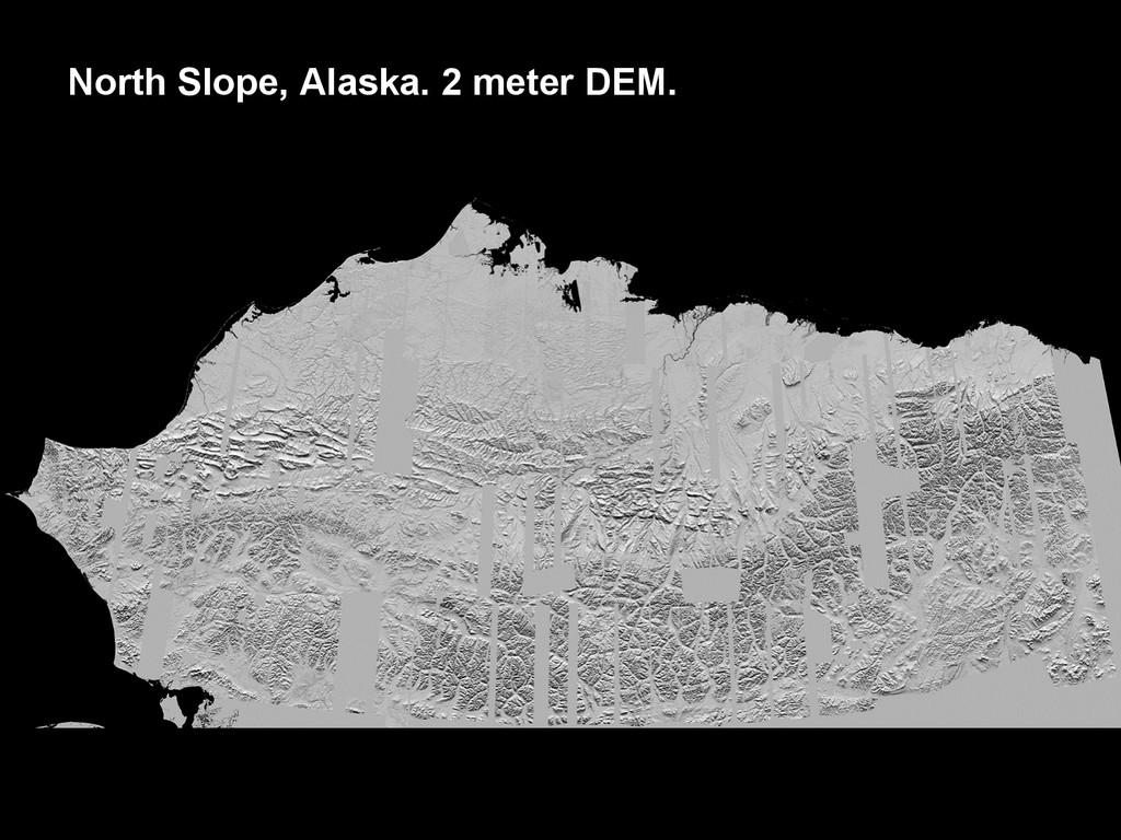 North Slope, Alaska. 2 meter DEM.