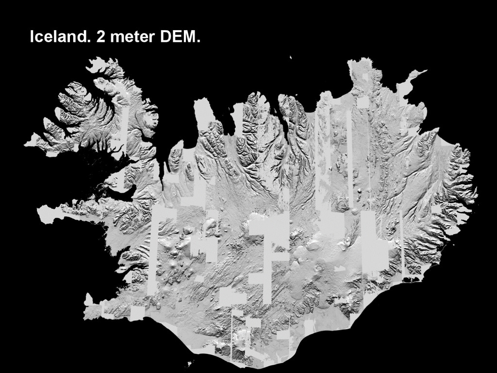 Iceland. 2 meter DEM.