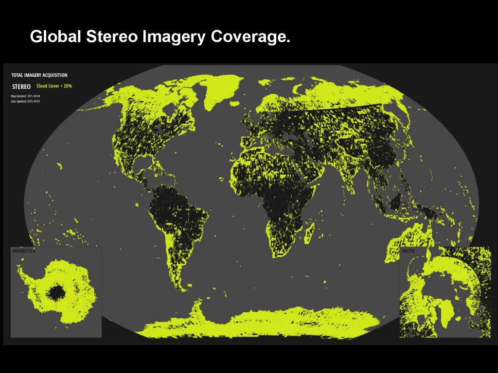 Global Stereo Imagery Coverage.