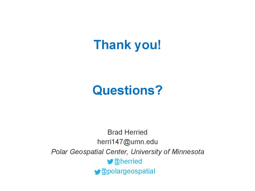Brad Herried herri147@umn.edu Polar Geospatial ...