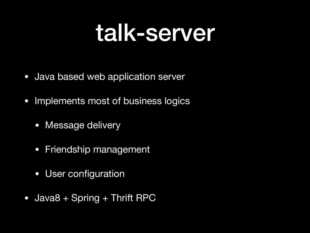 talk-server • Java based web application server...