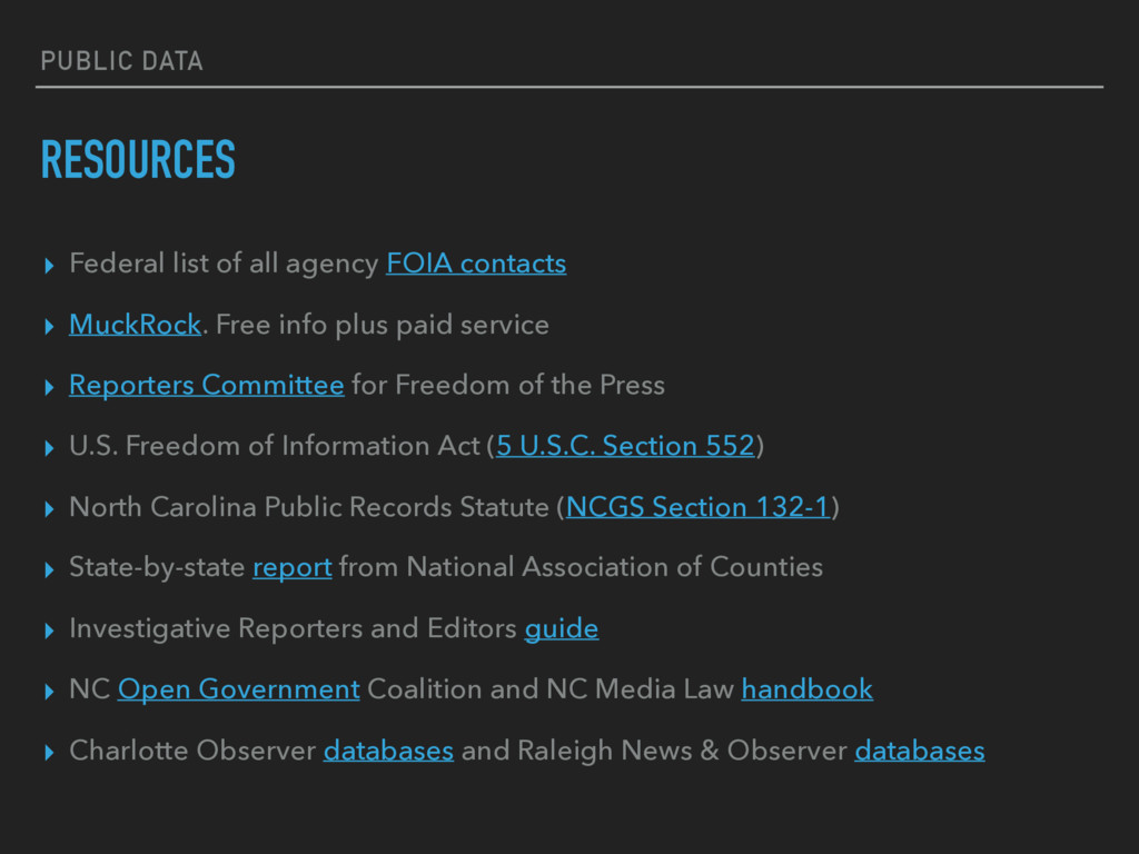PUBLIC DATA RESOURCES ▸ Federal list of all age...