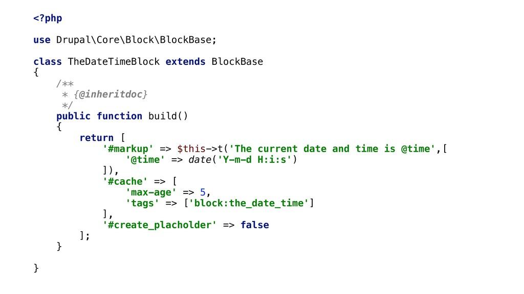 <?php use Drupal\Core\Block\BlockBase; class Th...