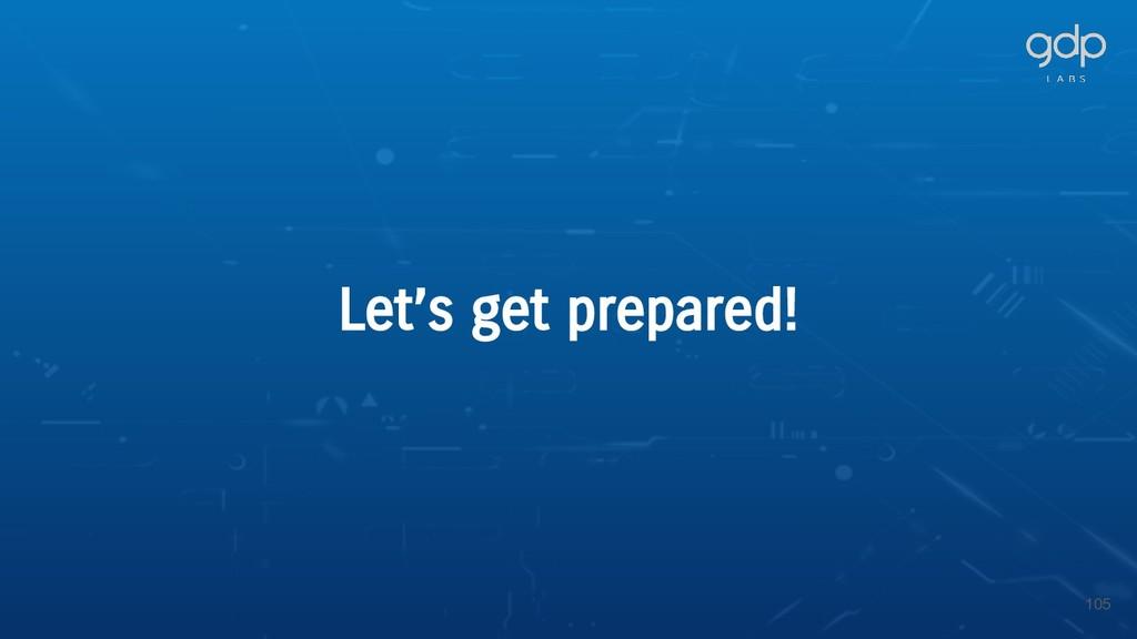 105 Let's get prepared!
