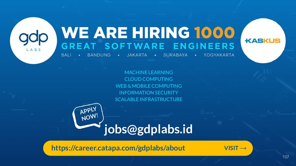 107 jobs@gdplabs.id MACHINE LEARNING CLOUD COMP...