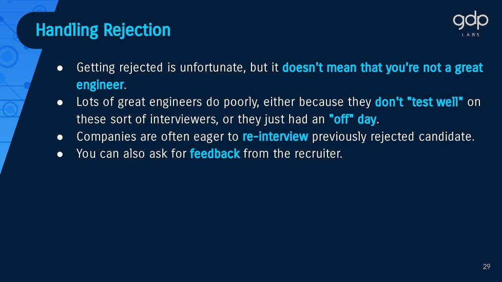 Handling Rejection ● Getting rejected is unfort...