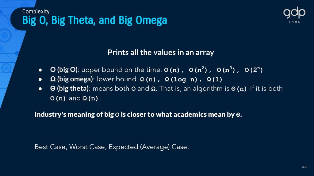 Big O, Big Theta, and Big Omega Prints all the ...