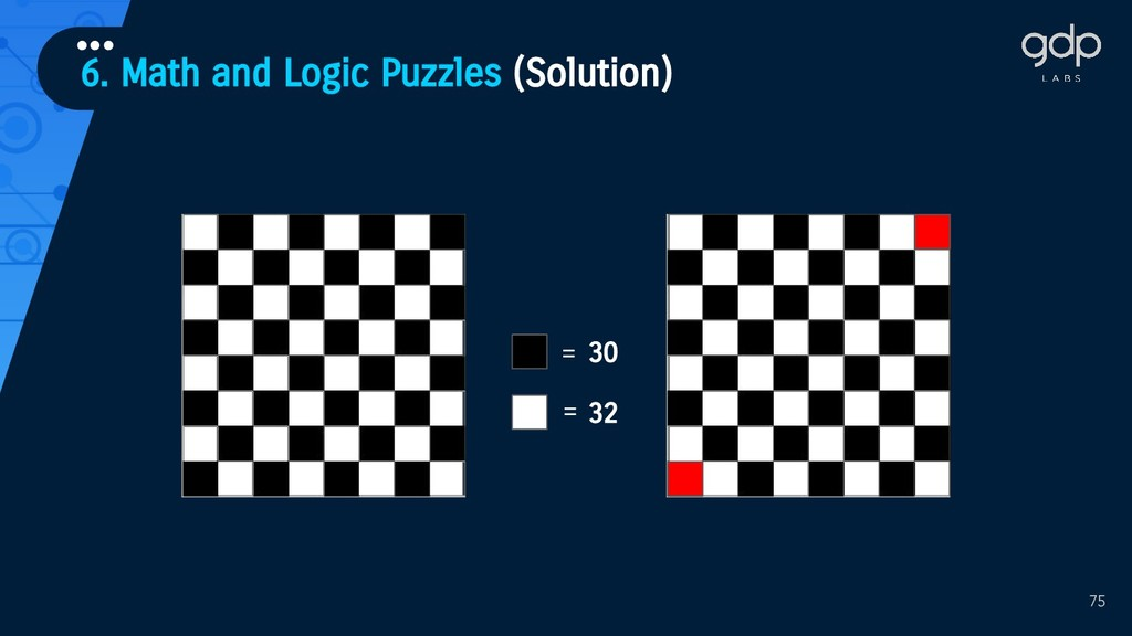 6. Math and Logic Puzzles (Solution) ••• 75 30 ...