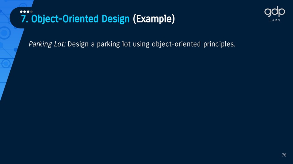 78 Parking Lot: Design a parking lot using obje...