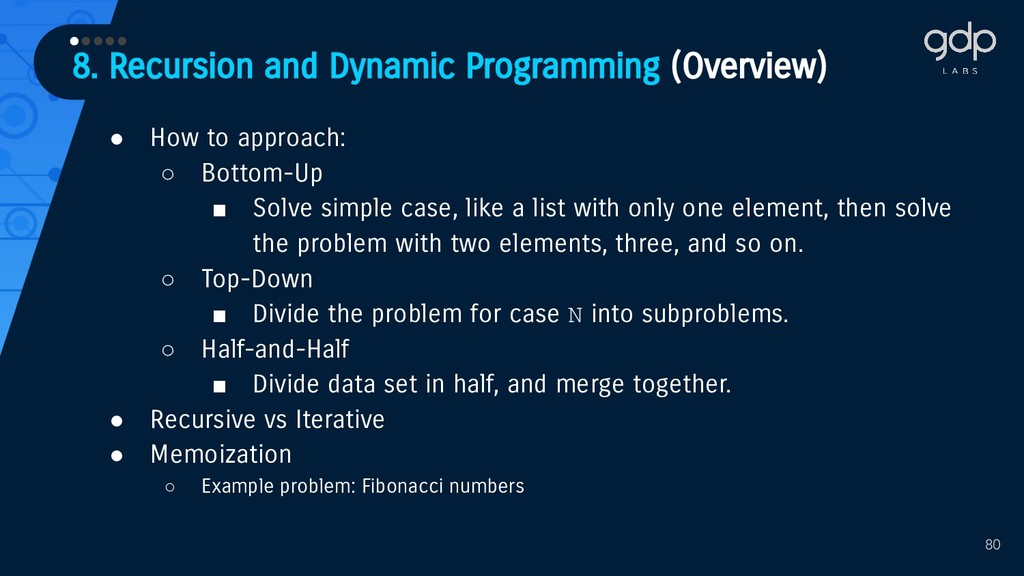8. Recursion and Dynamic Programming (Overview)...