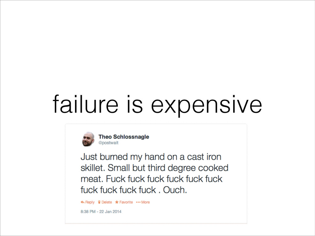 failure is expensive
