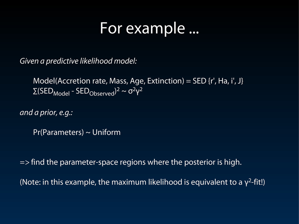 Given a predictive likelihood model: Given a pr...