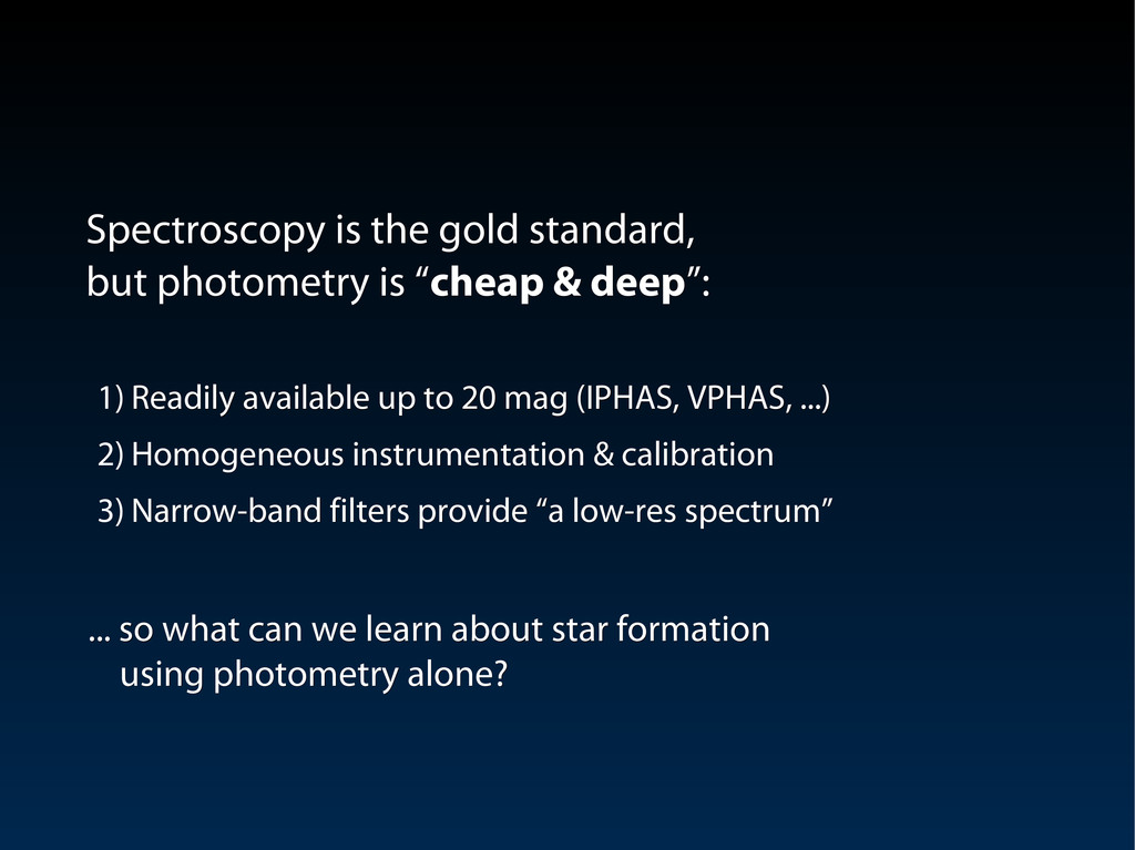 Spectroscopy is the gold standard, Spectroscopy...