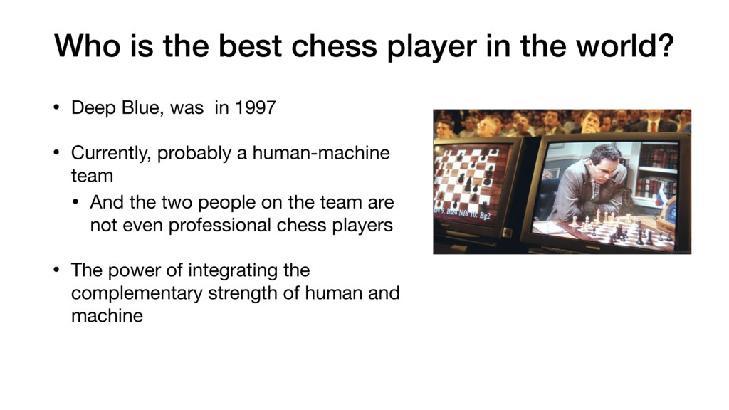 Who is the best chess player in the world? • De...