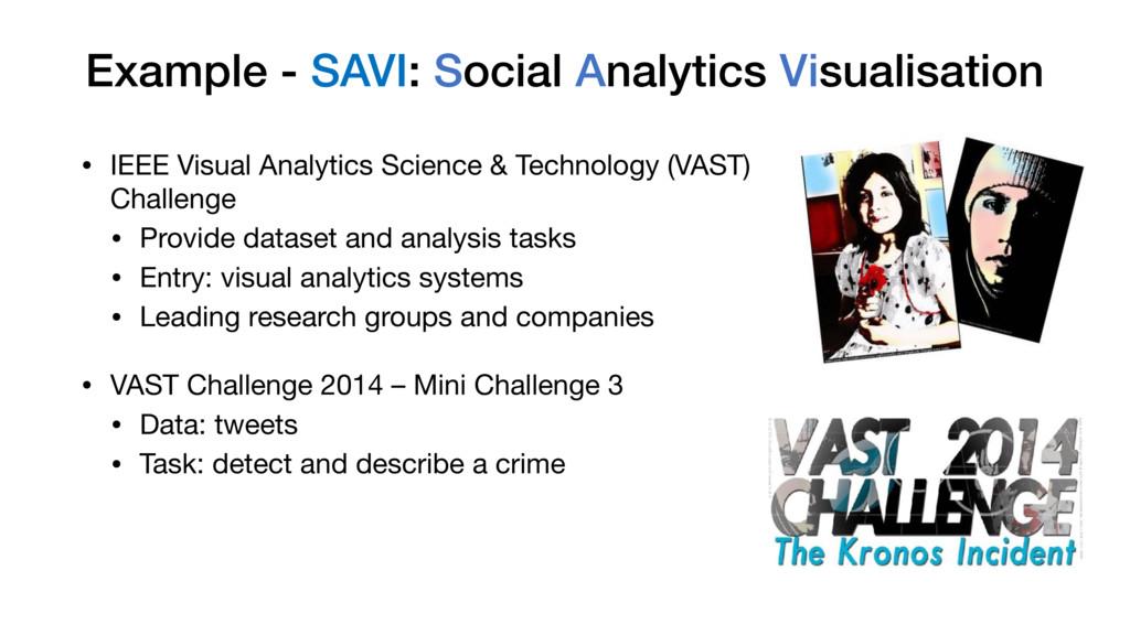 Example - SAVI: Social Analytics Visualisation ...