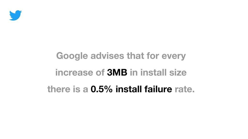 Google advises that for every increase of 3MB i...