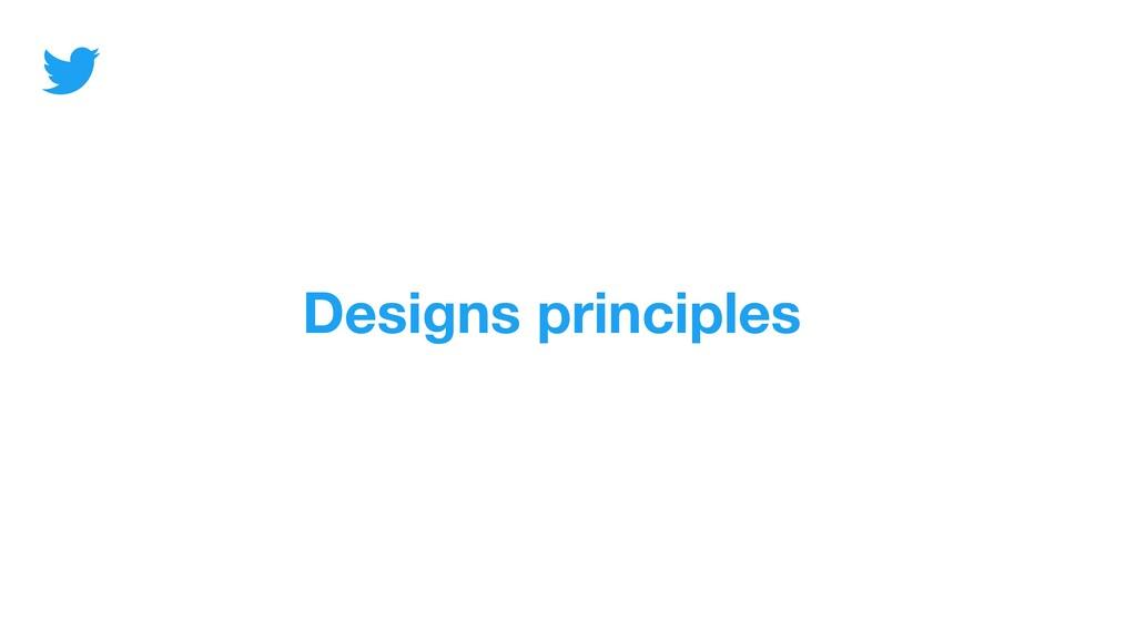 Designs principles